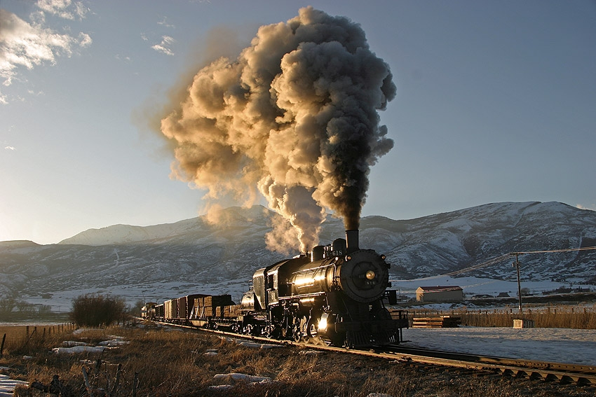 Winter Scene Steam Engine
